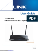 N600 Wireless Dual Band Gigabit Router TL-WDR3600