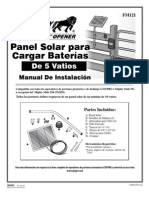 FM121 Mighty Mule Solar Panel Spanish