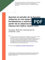 Vernengo, Maria Pia y Raznoszczyk De (..) (2014). Aportes al estudio de la funcion materna en sus aspectos facilitadores y restrictivos a (..).pdf