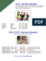 2011 VETI Calendar