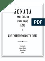 SONATA EN DO MAYOR (Juan Capistrano Coley y Embid). Fernando Abaunza