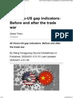 40 China-US gap indicators_ Before and after the trade war-20-04-20