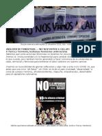 No Nos Vamos a Callar, Análisis de Pandemias, Lesbianas Feministas Antirracistas