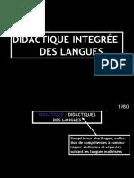 Didacrique integree des langues