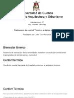 GUACHICHULCA JOHN - Parámetros de confort Acústico térmico y lumínico (1).pdf
