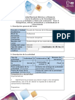 Guía de actividades y rúbrica de evaluación - Paso 3 -Resignificar, refinar, profundizar y contextualizar el conocimiento