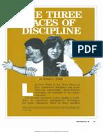The three faces of discipline