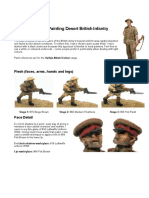 Colour Guide for Painting Desert British Infantry
