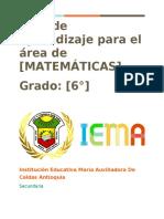 Matematicas Guía 6 michelle