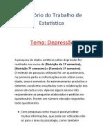 Relatório estatística