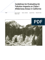 Guidelines for evaluating air pollution impacts on class I wilderness areas in California