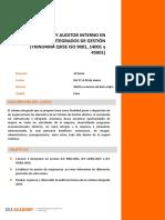 INTERPRETACIÓN Y AUDITOR INTERNO EN SISTEMAS INTEGRADOS DE GESTIÓN (TRINORMA QHSE ISO 9001, 14001 y 45001)