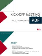 Presentación Kick off meeting (Faculty Coordinators 2018-I)