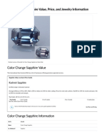 Color Change Sapphire Value, Price, and Jewelry Information - International Gem Society