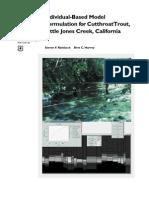 Individual-based model formulation for cutthroat trout, Little Jones Creek