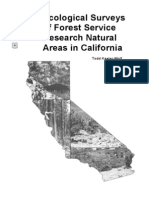 Ecological surveys of Forest Service research natural areas in California