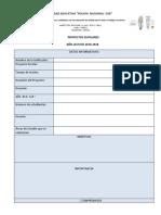 Planificacion de proyectos escolares Primer Quimestre