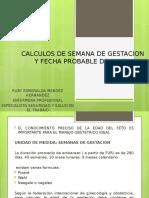 CALCULOS DE SEMANA DE GESTACION Y FECHA PROBABLE.pptx