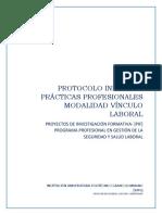 Protocolo Prácticas Profesionales Vinculo Laboral - PGSYSL