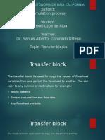 Transfer block