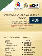 CONTROL SOCIAL A LA GESTION PUBLICA