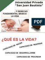 TELEOLOGIA Y DERECHO FUNDAMENTAL - LA VIDA