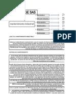 DOCUMENTACION MANTENIMIENTO INDUSTRIAL GENERAL