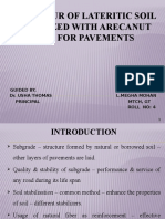 BEHAVIOUR OF LATERITIC SOIL STABILIZED WITH ARECANUT COIR FOR PAVEMENTS.pptx