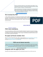 PDFs run your world