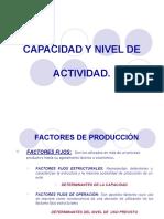 CAPACIDAD Y NIVEL DE ACTIVIDAD