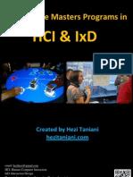 Worldwide Masters Programs in HCI & IxD