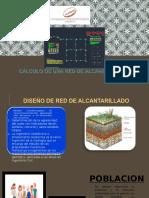 Cálculo de una red de alcantarillado PPT