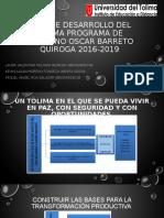 PLAN DE DESARROLLO DEL TOLIMA PROGRAMA DE GOBIERNO act en cipas tutoria nº2