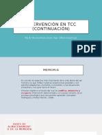 INTERVENCION EN TCC (ADULTO)