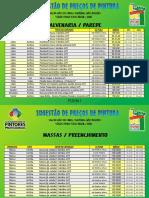 Tabela de Preço MBPM 2020