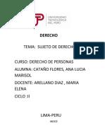SUJETO DE DERECHO
