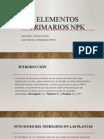 Elementos Primarios Npk