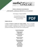 Jornadas CEFILE Primera Circular