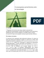 Debate (A) El anarquismo primitivista ante la ciencia y la tecnología