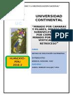 CAMARAS Y PILARES, SUBLEVEL, CHIMINEA, VCR