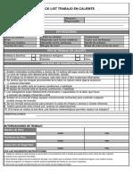 Check List de Trabajo en Caliente