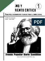 FPDS - MARXISMO Y PENSAMIENTO CRÍTICO - 1. Marxismo y pensamiento critico