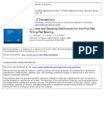 Stiffness and Damping Coefficients for Five-Pad Tilting Pad Brg