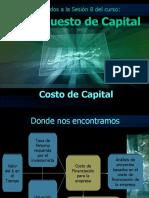 2019 Presupuesto de Capital 8 Costo de Capital