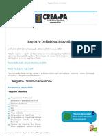 Registro Definitivo_Provisório