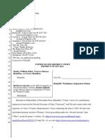 Paher v Cegavske Prelim Injunction