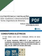 AULA 6 - dimensionamento de eletrodutos e condutores