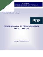 Cour Commissioning et demarrage des installations petrolieres