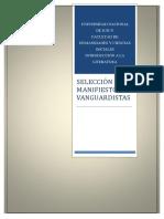 ANTOLOGÍA DE MANIFIESTOS VANGUARISTAS. INTRODUCCIÓN A LA LITERATURA-FHYCS.pdf