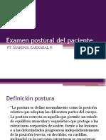 Examen postural del paciente